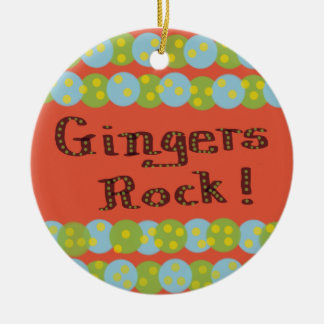 """Gingers Rock!"" Ornament"