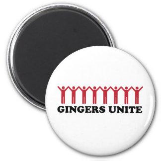 Gingers Unite 6 Cm Round Magnet