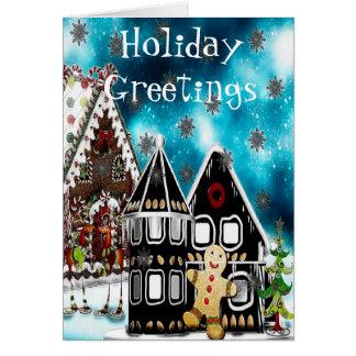 GingerVille Christmas Folk Art Greetings or GIFT Cards
