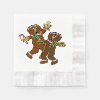 GingerVille Christmas Folk Art Disposable Napkin