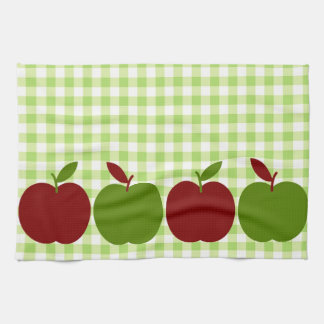 Gingham and Apples Tea Towel