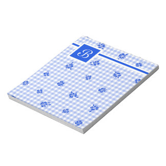 Gingham and Roses 2 Notepad