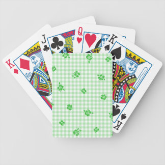 Gingham and Roses 3 Bicycle Playing Cards
