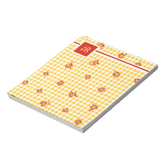 Gingham and Roses 4 Notepad