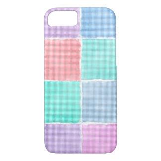 gingham blocks iPhone 7 case