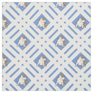 Gingham Bulldog Fabric