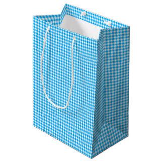 Gingham-Caribbean Blue-Gift Bag M