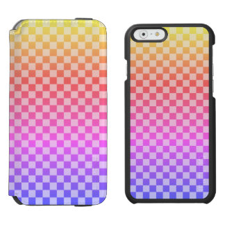 Gingham Check Checkered Bright Colorful Incipio Watson™ iPhone 6 Wallet Case