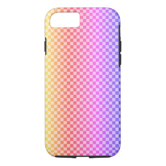 Gingham Check Checkered Bright Colorful iPhone 8/7 Case