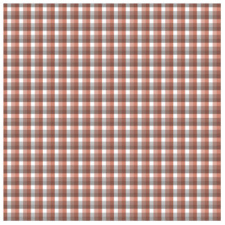 Gingham check pattern. Gray, Red - Brown White Acrylic Cut Outs