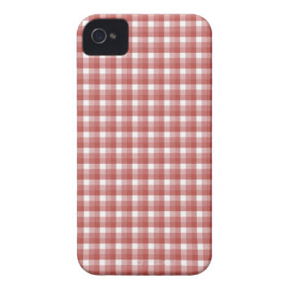 Gingham check pattern. Red and White. iPhone 4 Case-Mate Cases