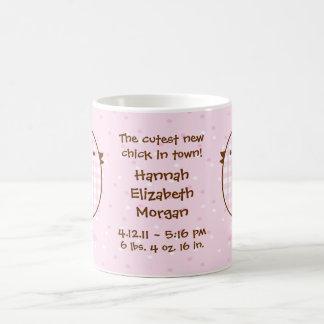Gingham Chick Keepsake Baby Mug