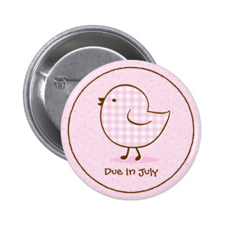 Gingham Chick Personalized Pin