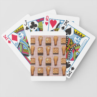 gingham chicken waffles bicycle playing cards