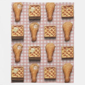 gingham chicken waffles blanket