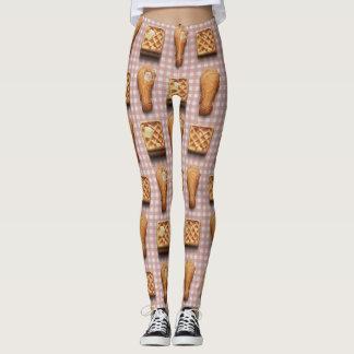 gingham chicken waffles leggings