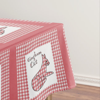 Gingham Country Cat Tablecloth