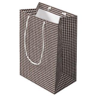 Gingham-Dark Brown-Gift Bag M