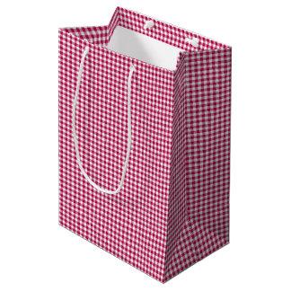 Gingham-Dark Pink-Gift Bag M