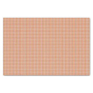 Gingham-Harvest Orange-Tissue Wrapping Paper