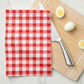 Gingham Hearts Kitchen Towel