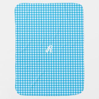 Gingham in Blue Baby Blanket