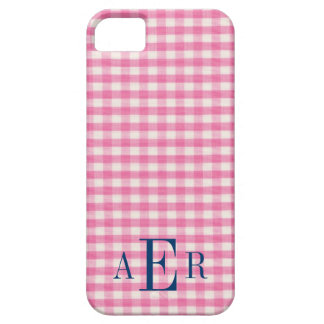 Gingham in Pink iPhone 5 Cover