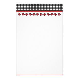 Gingham Ladybug Stationary Stationery