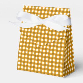 Gingham-Mustard Yellow-Favor Box, Tent Wedding Favour Box