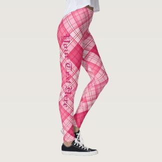 Gingham Pattern (Personalize) Leggings