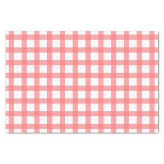 Gingham Pattern Tissue Paper