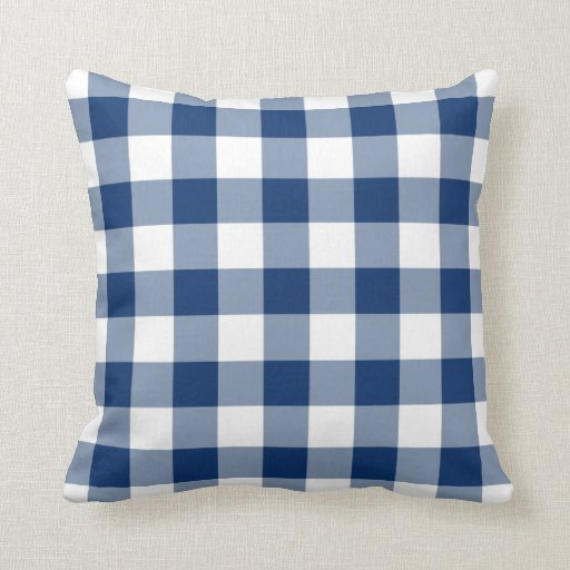 Gingham Pillow in Sodalite Blue