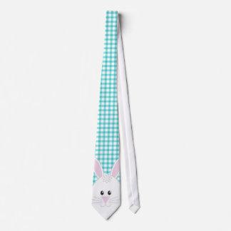 Gingham Rabbit Tie