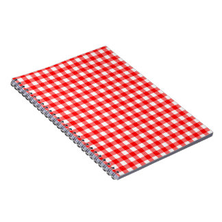 Gingham Red and White Pattern Notebook