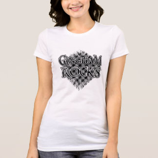 Gingham Rocks - Cool Unique Pattern Tee Shirt