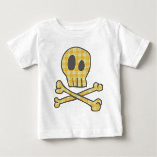 Gingham Skull & Bones - Yellow T-shirt