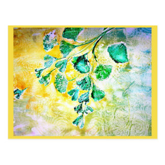 Gingko of wishes postcard