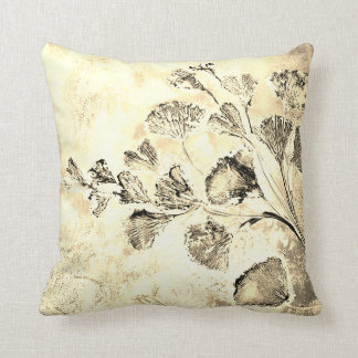Gingko sepia cushion