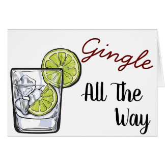 Gingle All The Way | Gin & Tonic Christmas Cards