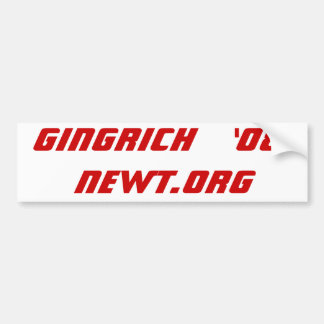 Gingrich   '08 Newt.Org Bumper Sticker