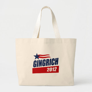 GINGRICH 2012 CAMPAIGN BANNER TOTE BAGS