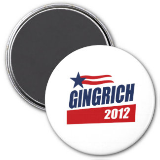 GINGRICH 2012 CAMPAIGN BANNER MAGNET