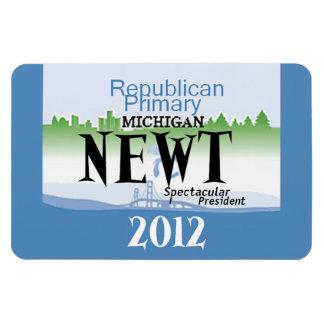 Gingrich MICHIGAN Rectangular Photo Magnet