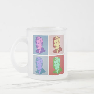 Gingrich Pop Art Frosted Glass Mug