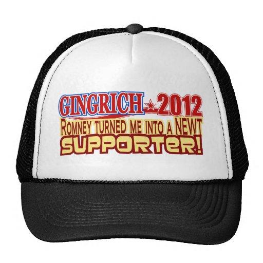 Gingrich President 2012 Turned Into Newt Design Trucker Hat