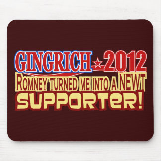 Gingrich President 2012 Turned Into Newt Design Mouse Pad