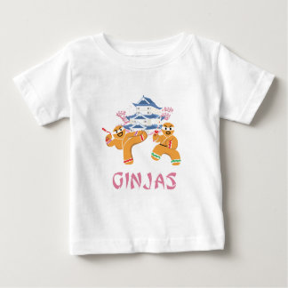 Ginjas Ninjas Christmas Ninja Gingerbread Baby T-Shirt