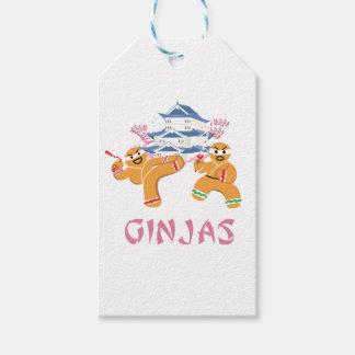 Ginjas Ninjas Christmas Ninja Gingerbread Gift Tags