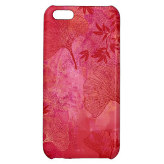 Ginkgo and Bamboo Leaves - Red Colors Case Case For iPhone 5C