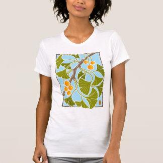 Ginkgo Dance #2 Block Print T-Shirt
